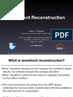 Wavefront reconstruction