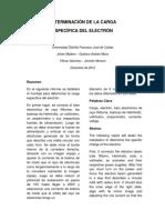 Informe Carga Específica del Electrón