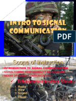 Intro to Signal Communication