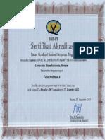 Akreditasi Universitas Islam Indonesia Tahun 2017