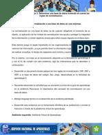 Evidencia Documento Aplicar Tecnica Normalizacion Bases de Datos en Empresa