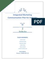 Integrated Marketing Communication Plan for Subicsha
