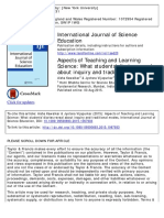 Aspects of Teaching and Learning