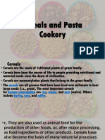 Cereals and Pasta Cookery
