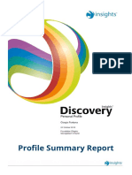 Giorgio Fontana Insight Discovery Profile Summary
