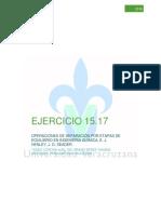 Ejercicio 15.17 OPERACIONES DE SEP. POR ETAPAS DE EQUILIBRIO EN  I.Q.