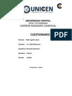 Cuestionario Direccion Ejecutiva