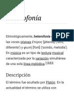 Heterofonía - Wikipedia, La Enciclopedia Libre
