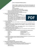 Capítulo 11 Contabilidad Resumen (Presupuesto Maestro)