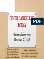 Choir Cancelled Today