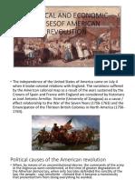 Political and Economic Causesof American Revolution