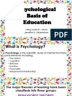 Psychological Basis of Education