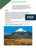 Biodiversidad de La Sierra