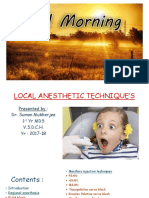 local anesthetic technique