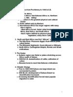 Africa Sub Saharan Africa Prehistory to 1500 (1)