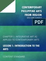 Contemporary Arts Lesson 1