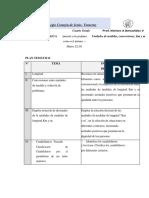 Plan de Matematica 4to Grado, Moises Benavidez
