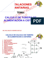 03 Calculo de Tuberia de Alimentacion a Cisterna