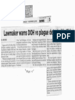 Philippine Star, Nov. 25, 2019, Lawmaker warns DOH vs plague detected in China.pdf