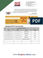 Bangalore-Jayanagar Class Schedule
