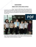 Good News - Csc Chairman Visits Owwa Rwo2 Office