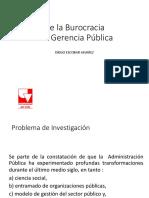 De la burocracia a la Gerencia Pública