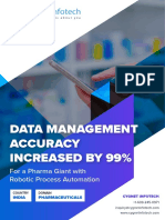 Data Management Accuracy Increased by 99% for a Pharma Giant with RPA Solutions