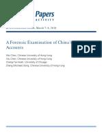 BPEA 2019 Forensic Analysis China