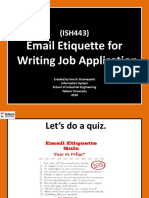 Email etiquette for writing job application