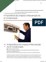 A Importância Da Limpeza e Manutenção Do Ar Condicionado