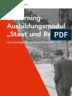Ausbildungmodul Staat Und Recht 2019-07-01