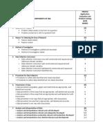 Sba Mark Scheme