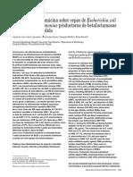 Actividad de La Fosfomicina Sobre e Coli y k Pneumoniae