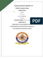 Pragya New Internship Report