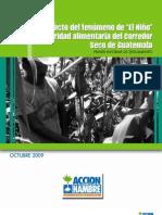 """Impacto del fenómeno de """"El Niño"""" en la seguridad alimentaria del Corredor Seco de Guatemala"""