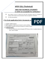 Guidelines for Students of Technical Department