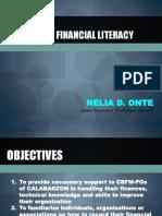 Financial Literacy DENR2018
