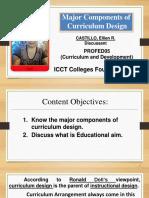 Major Components of Curriculum Design