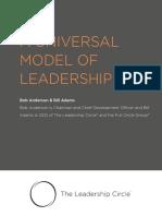 A Universal Model of Leadership