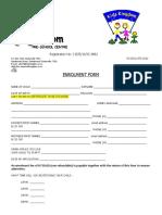 Kids Kingdom Enrollment Form 2019