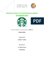 Resarch Paper on Franchising Business Macob