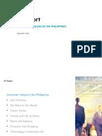 Consumer Values in the Philippines
