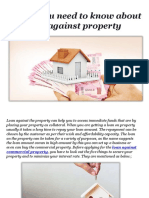 Things you need to know about loan against property