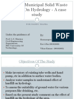 Effect of solid waste on water table