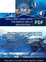 Skills and Task of adolescence  PERDEV