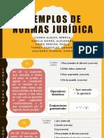 Ejemplos de Normas Jurídica