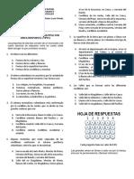 Evaluación sobre el Relieve Colombiano