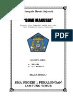 Sinopsis Novel Sejarah BUMI MANUSIA.docx