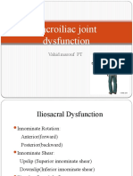 SI joint Dysfunction