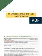 t7- Niveles de Organización de Los Seres Vivos